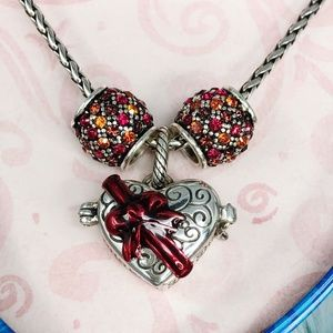 Brighton Charm Necklace Chocolates w/2 Spacers Ret